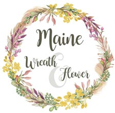 Maine Wreath and Flower Logo